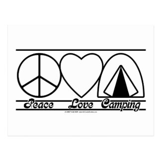 Peace Love and Camping Postcard