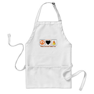 Peace, Love and Candy Corn Adult Apron
