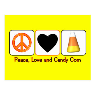 Peace, Love and Candy Corn Postcard