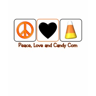 Peace, Love and Candy Corn shirt
