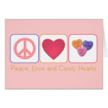 Peace Love and Candy Hearts Greeting Card