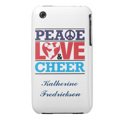 Peace, Love and Cheer Case-Mate iPhone 3 Cover