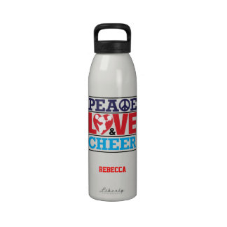 Peace Love and Cheer Liberty Bottle Reusable Water Bottle