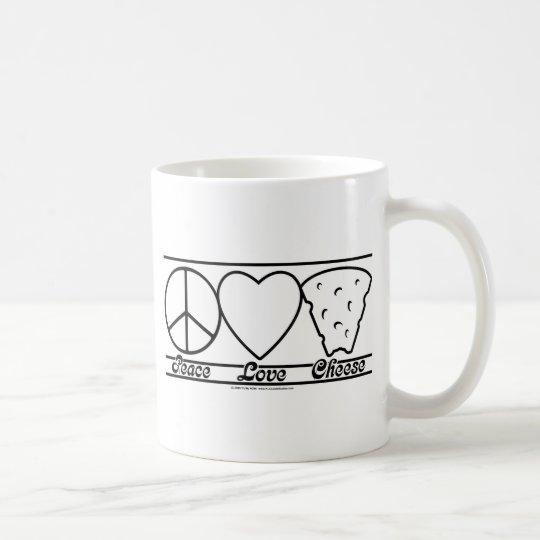 Peace Love and Cheese Coffee Mug