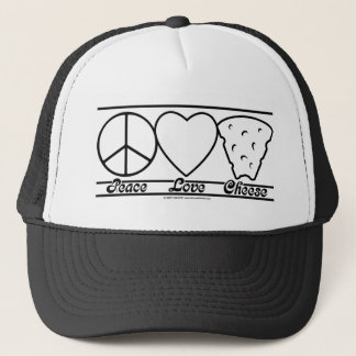 Peace Love and Cheese Trucker Hat