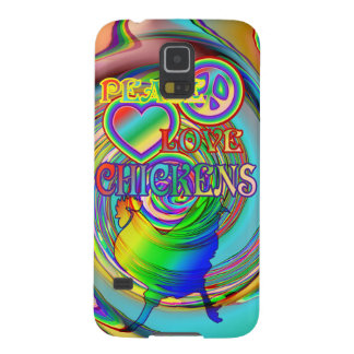 Peace, Love, and Chickens Galaxy S5 Case