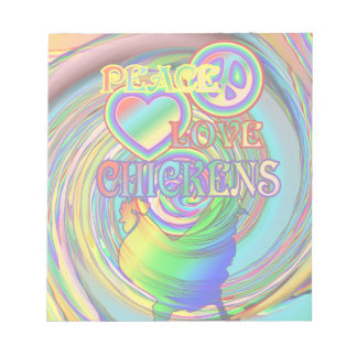 Peace, Love, and Chickens Notepad