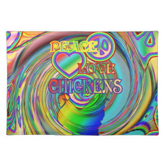Peace, Love, and Chickens Placemat