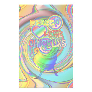 Peace, Love, and Chickens Stationery