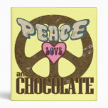 Peace Love and Chocolate 3 Ring Binder