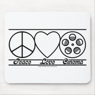 Peace Love and Cinema Mouse Pad
