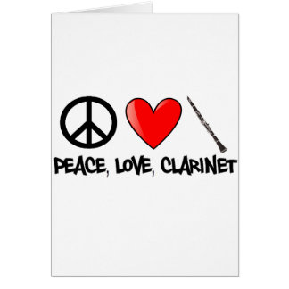 Peace, Love, and Clarinet Card
