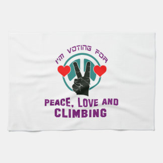 Peace Love And Climbing. Kitchen Towels