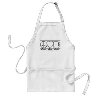 Peace Love and Coffee Adult Apron