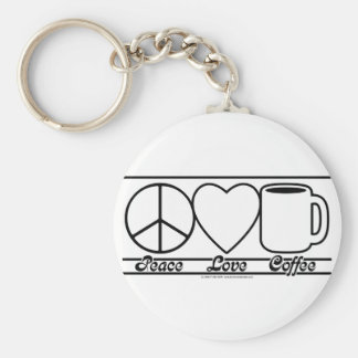 Peace Love and Coffee Keychains