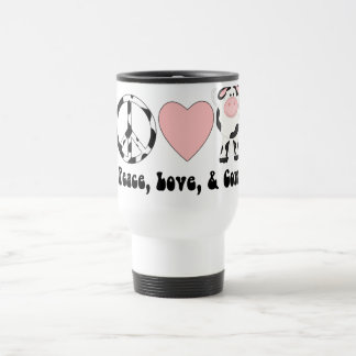 Peace Love and Cows Tees and Gifts 15 Oz Stainless Steel Travel Mug