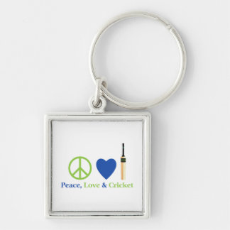 Peace Love and Cricket Tees and Gifts Keychain