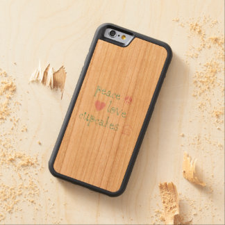 Peace Love and Cupcakes Carved Cherry iPhone 6 Bumper Case