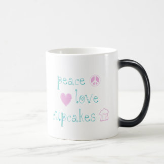 Peace Love and Cupcakes Magic Mug