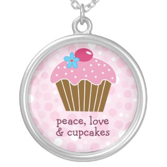 Peace, Love and Cupcakes Necklace necklace