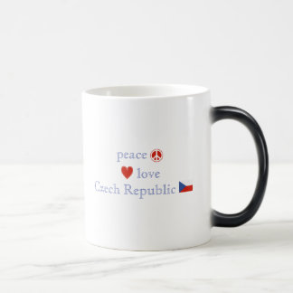 Peace Love and Czech Republic Magic Mug