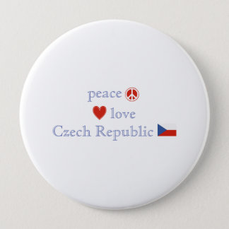 Peace Love and Czech Republic Pinback Button