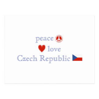 Peace Love and Czech Republic Postcard