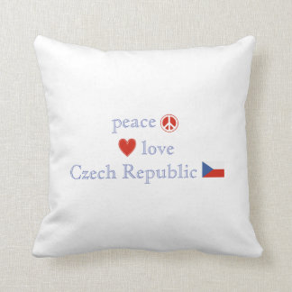 Peace Love and Czech Republic Throw Pillow