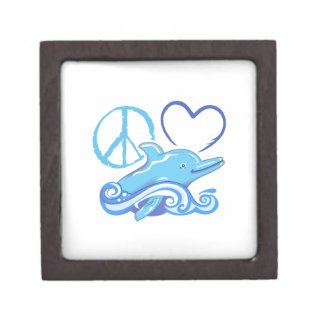 PEACE LOVE AND DOLPHINS PREMIUM GIFT BOX