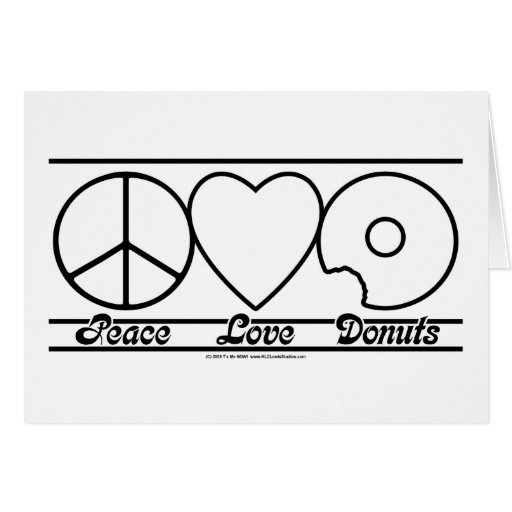Peace Love and Donuts Greeting Card