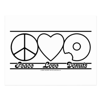 Peace Love and Donuts Postcard