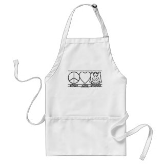 Peace Love and Dragons Adult Apron
