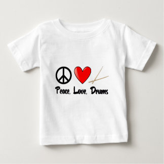 Peace, Love, and Drums Baby T-Shirt