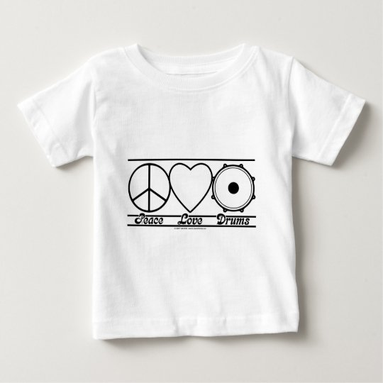 Peace Love and Drums Baby T-Shirt