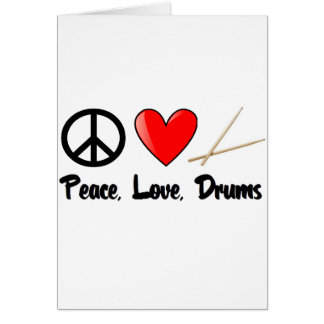 Peace, Love, and Drums Card
