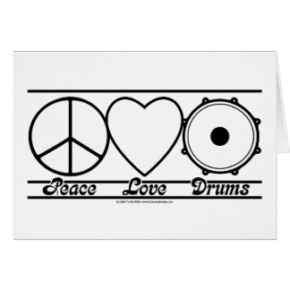 Peace Love and Drums Card