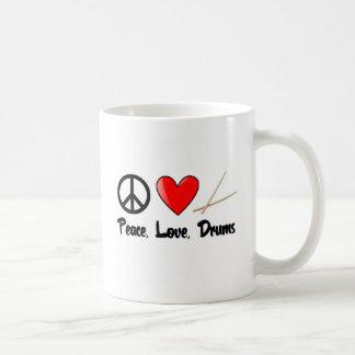 Peace, Love, and Drums Coffee Mug