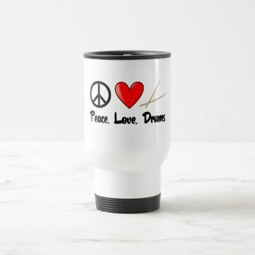 Peace, Love, and Drums Coffee Mugs