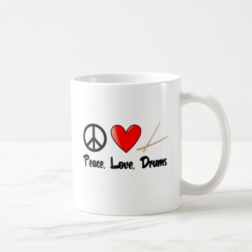 Peace, Love, and Drums Mug