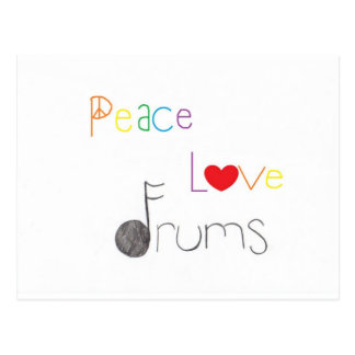 Peace Love and Drums Postcard