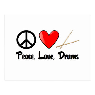 Peace, Love, and Drums Postcard