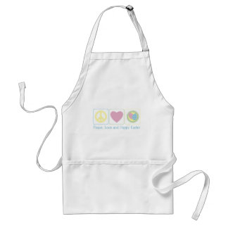 Peace Love and Easter Eggs Adult Apron
