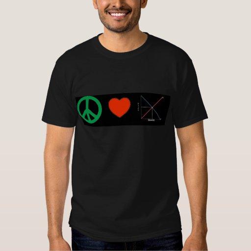 Peace Love and Economics Shirts