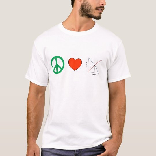 Peace Love and Economics T-Shirt