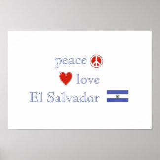 Peace Love and El Salvador Poster