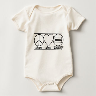 Peace Love and Equality Baby Bodysuit