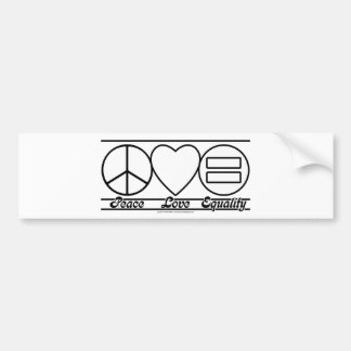 Peace Love and Equality Bumper Stickers