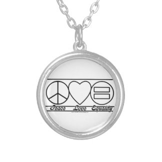 Peace Love and Equality Silver Plated Necklace