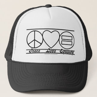 Peace Love and Equality Trucker Hat