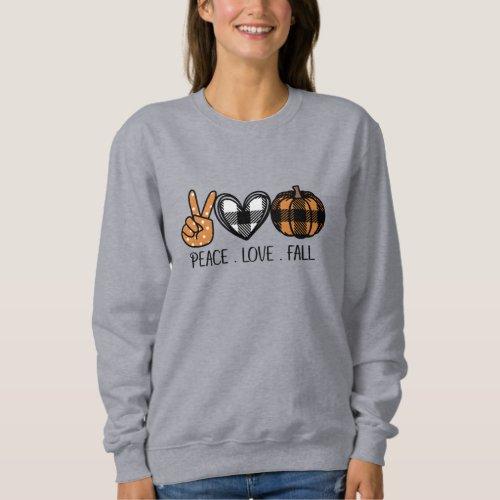 Peace Love and Fall Sweatshirt
